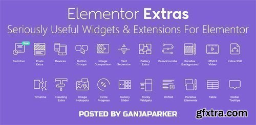 Elementor Extras v2.0.14 - Seriously Useful Widgets & Extensions For Elementor - NULLED