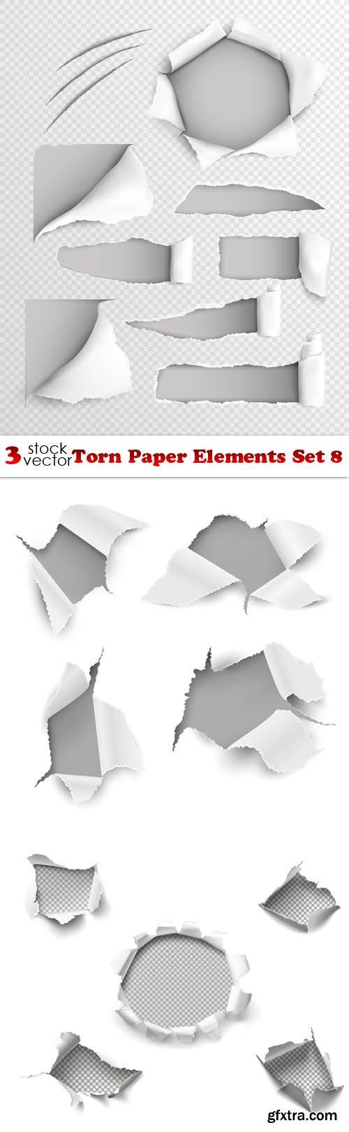 Vectors - Torn Paper Elements Set 8