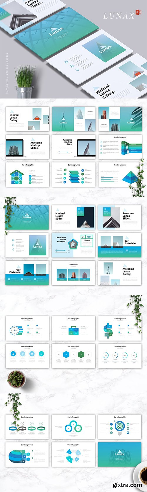 LUNAX - Powerpoint, Keynote and Google Slides Templates