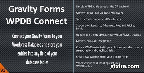 CodeCanyon - Gravity Forms - WPDB / MySQL Connect v3.6.0 - 5968479