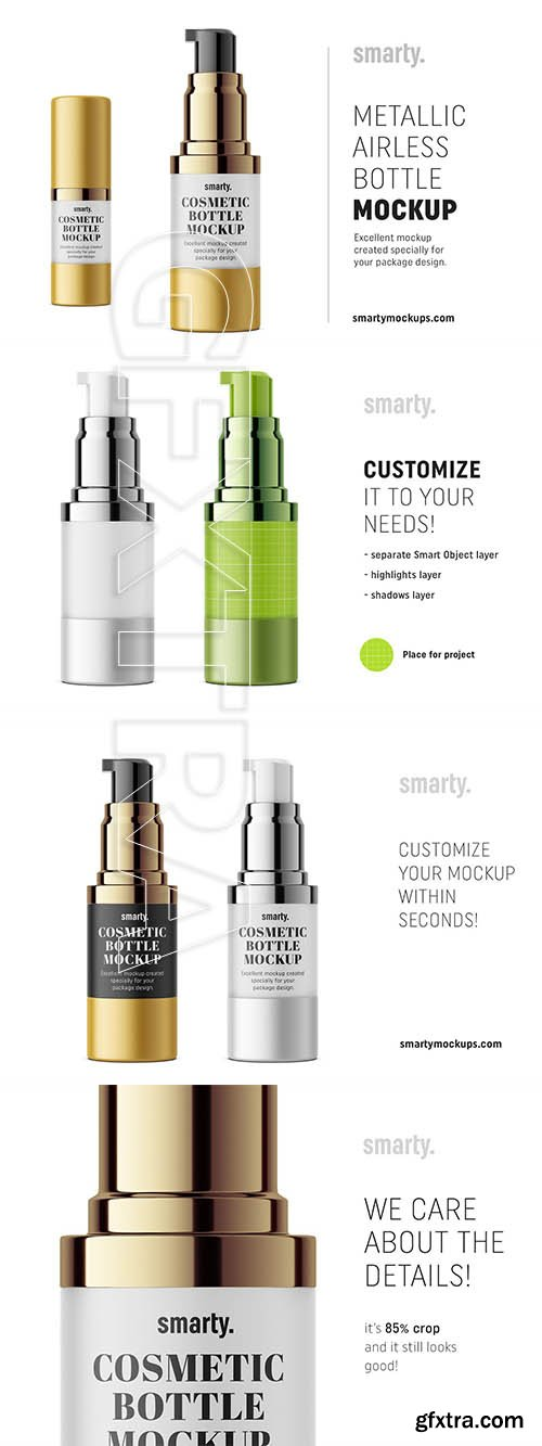 CreativeMarket - Metallic airless mockup 15 ml 3374611