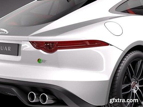 Jaguar F-Type R Coupe 2015 3D Model