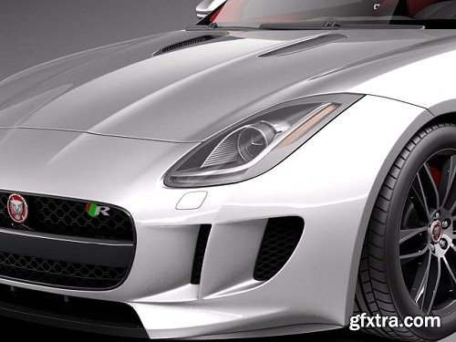 Jaguar F-Type R Coupe 2015 3D Model