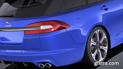 Jaguar XFR-S Sportbrake 2016 (vray) 3D Model