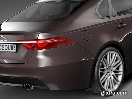 Jaguar XF 2016 3D Model