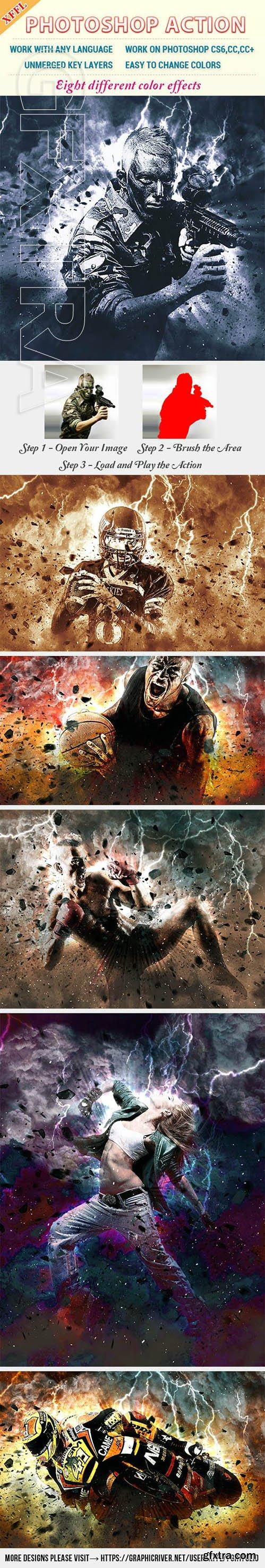 GraphicRiver - Color Storm Photoshop Action 23444925