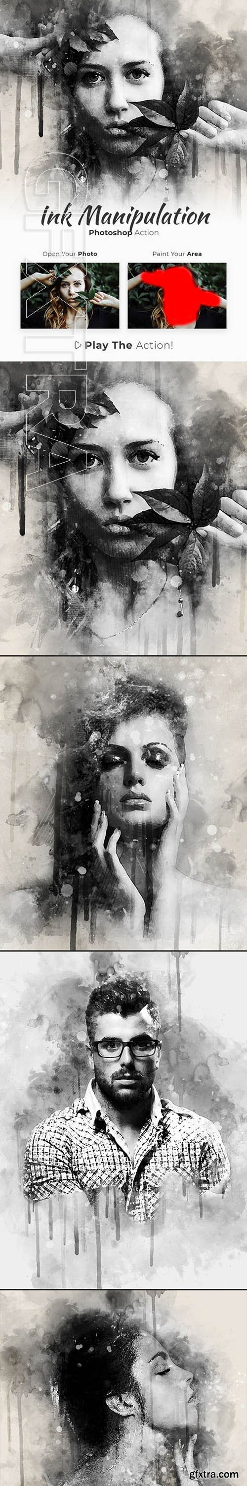 GraphicRiver - Ink Manipulation Photoshop Action 23444941
