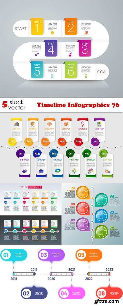 Vectors - Timeline Infographics 76
