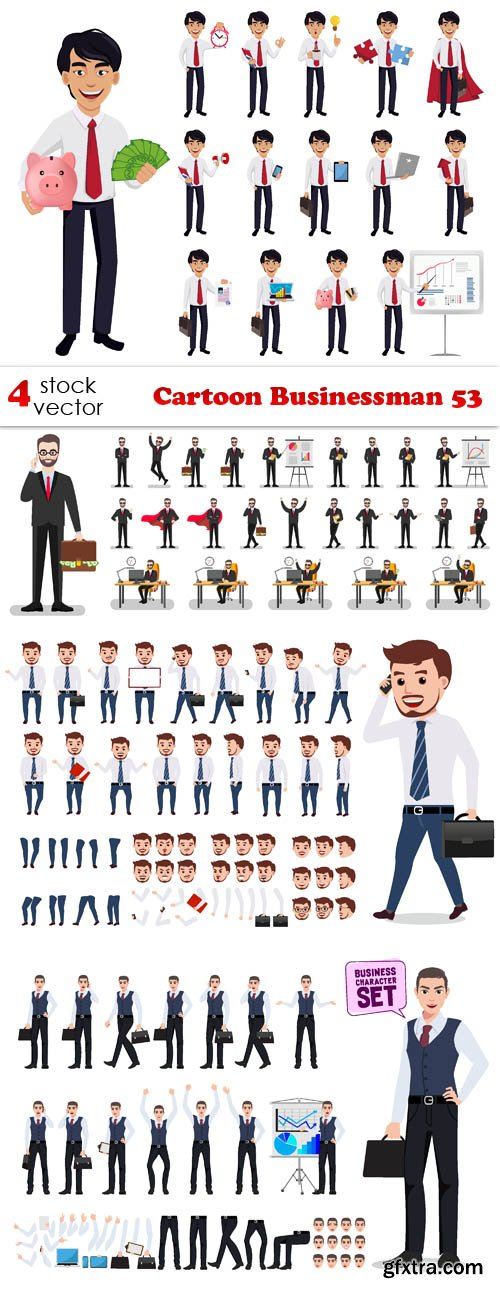 Vectors - Cartoon Businessman 53