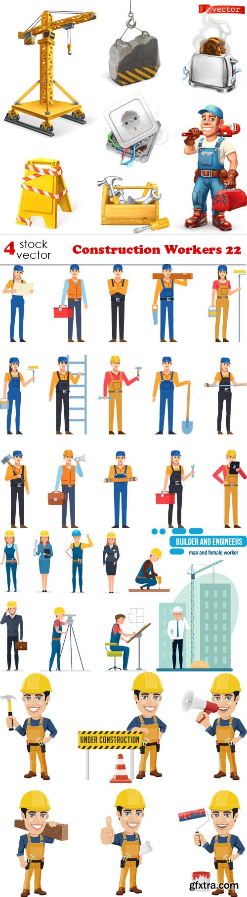 Vectors - Construction Workers 22