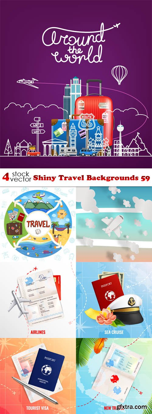 Vectors - Shiny Travel Backgrounds 59