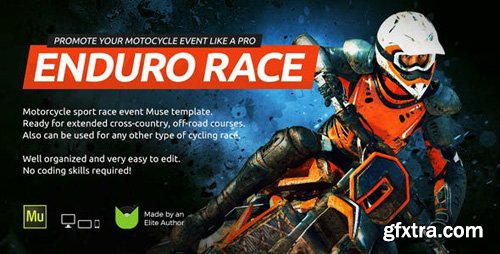 ThemeForest - Enduro v1.0 - Extreme Motorcycle Race Event Website Muse Template - 21873498