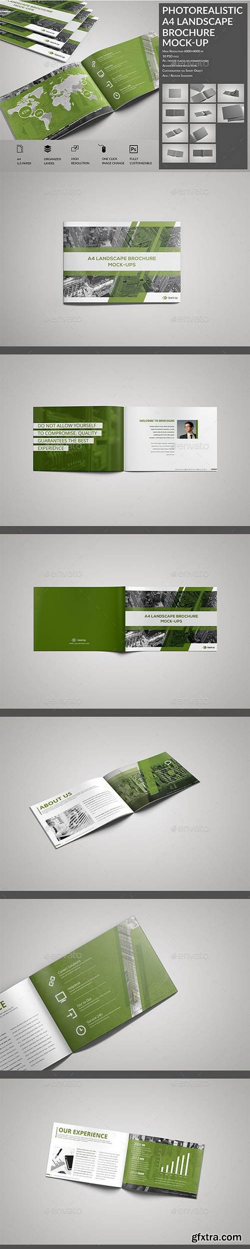 Graphicriver - Photorealistic A4 Landscape Brochure / Catalog Mock-Up 16501817