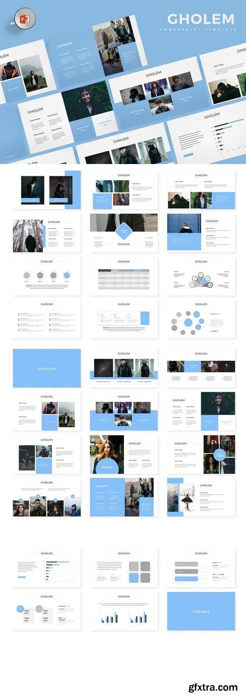 Gholem - Powerpoint, Keynote, Google Sliders Templates
