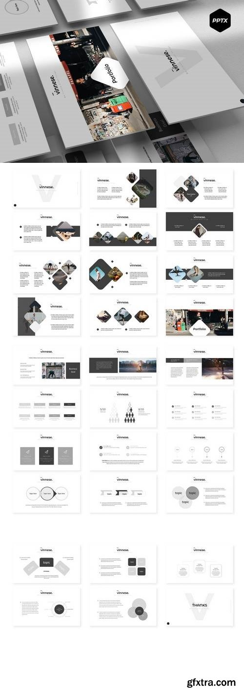 Vinesse - Powerpoint, Keynote, Google Sliders Templates