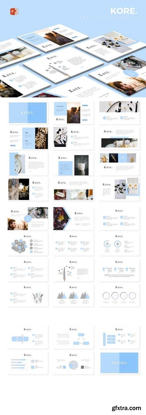 Kore - Powerpoint, Keynote, Google Sliders Templates