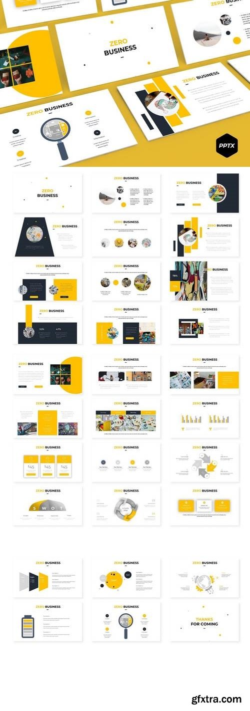 Zero - Powerpoint, Keynote, Google Sliders Templates