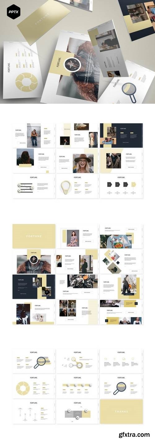 Fortune - Powerpoint, Keynote, Google Sliders Templates