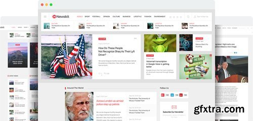 JoomShaper - NewsKit v1.7 - Professional Joomla Template for News and Magazine Sites