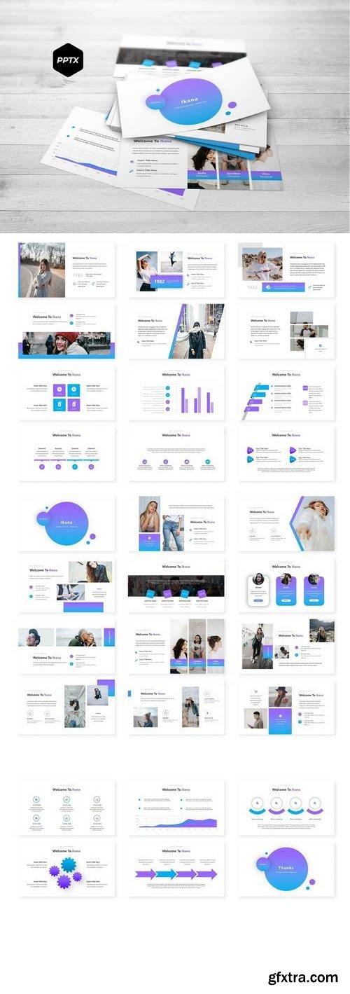 Ikana - Powerpoint, Keynote, Google Sliders Templates