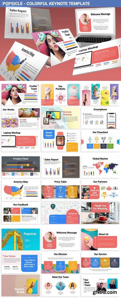 Popsicle - Colorful Keynote Template