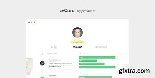 ThemeForest - cvCard WP v1.4.0 - Responsive vCard WordPress Theme - 7476245