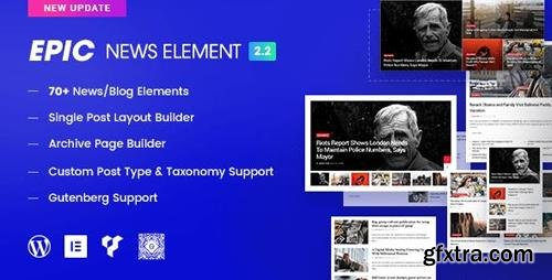 CodeCanyon - Epic News Elements v2.2.1 - News Magazine Blog Element & Blog Add Ons for Elementor & WPBakery Page Builder - 22369850 - NULLED