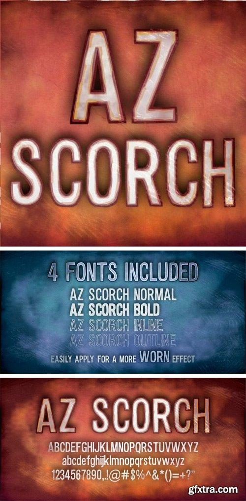 AZ Scorch Font Family