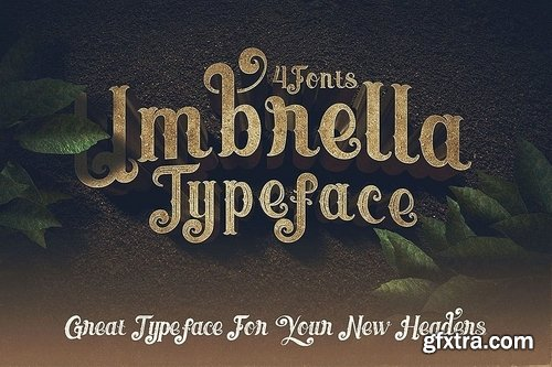 CM - Umbrella - 4 Display Fonts 3612882