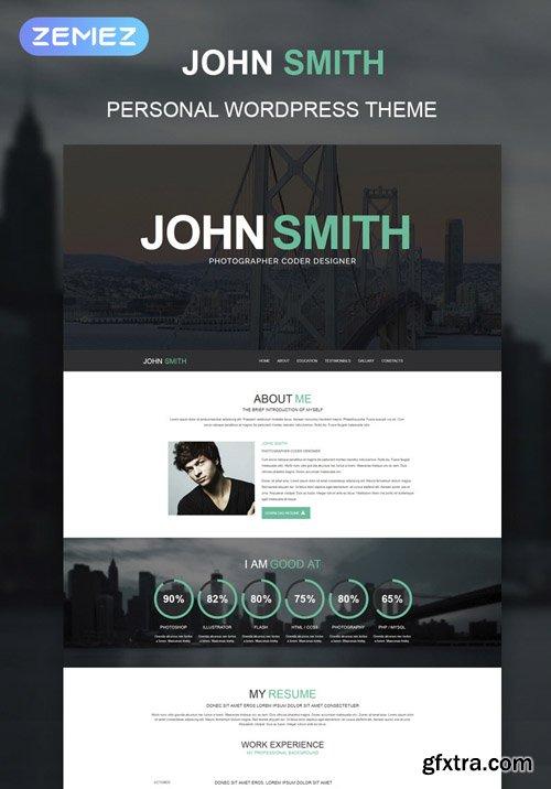 JohnSmith v1.2.3 - Online CV WordPress Theme - TM 51241
