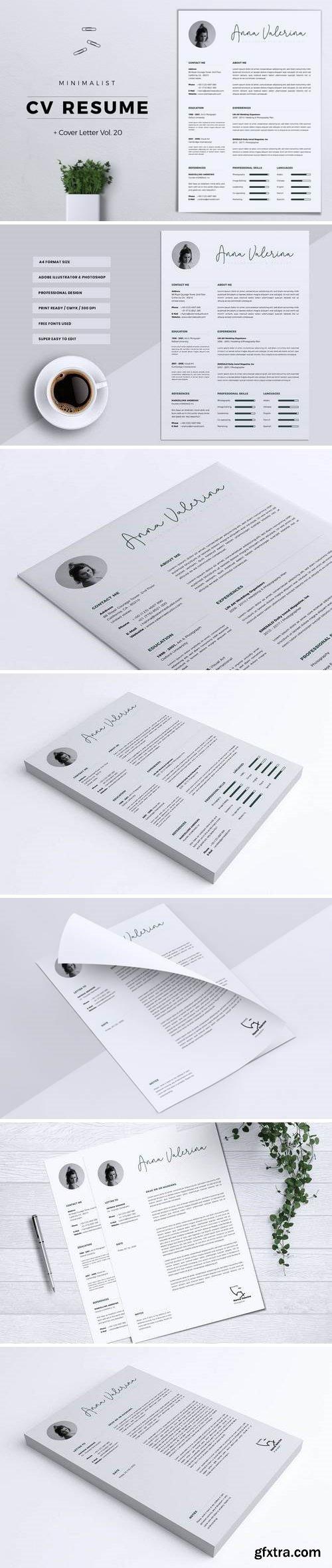 Minimalist CV Resume Vol. 20