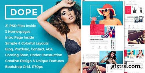 ThemeForest - Dope v1.0 - Creative Photography Portfolio HTML5 Template - 18939998