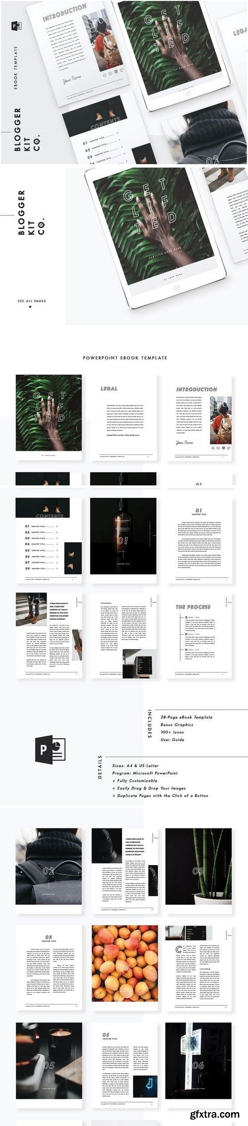 eBook Template   28 Pages  PowerPoint