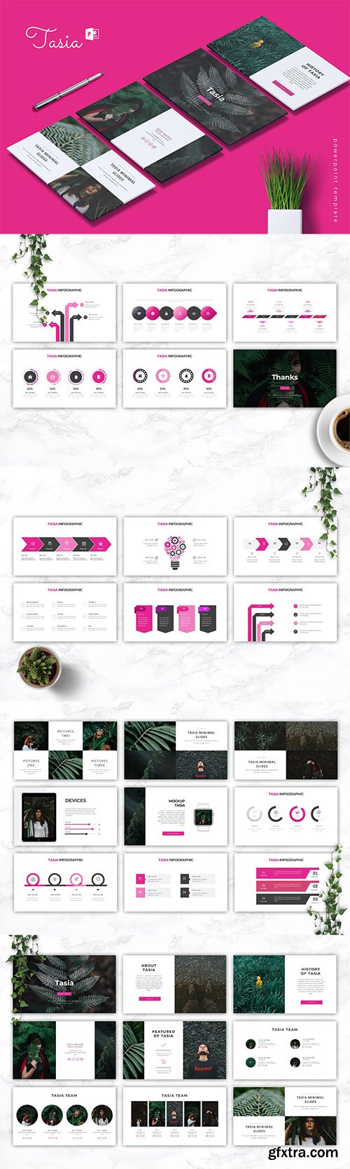 TASIA - Company Profile Powerpoint, Keynote and Google Slides Templates