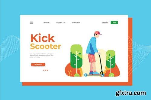 Kick Scooter Landing Page Illustration