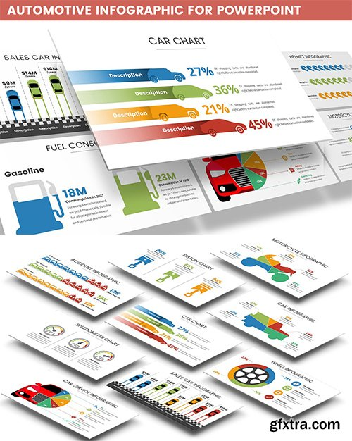 Automotive Infographic for Powerpoint