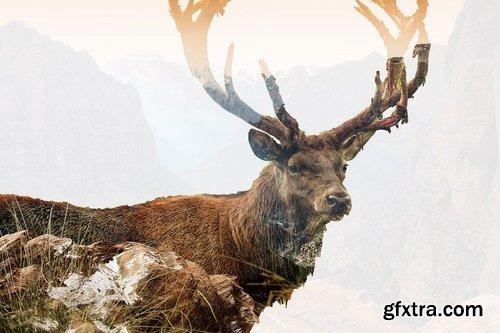 GraphicRiver - Double Exposure Photoshop Action 17424700