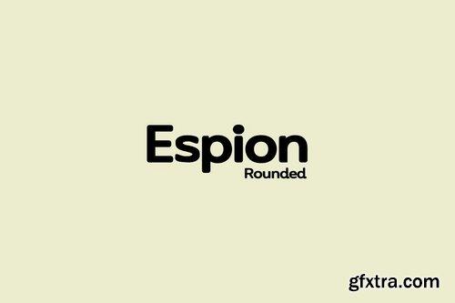 CM - ESPION Rounded - Modern Typeface 3618294