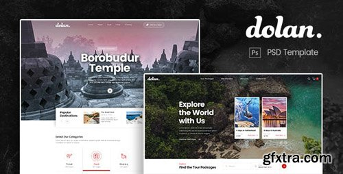 ThemeForest - Dolan v1.0 - Food and Travel Tour PSD Template - 23508726