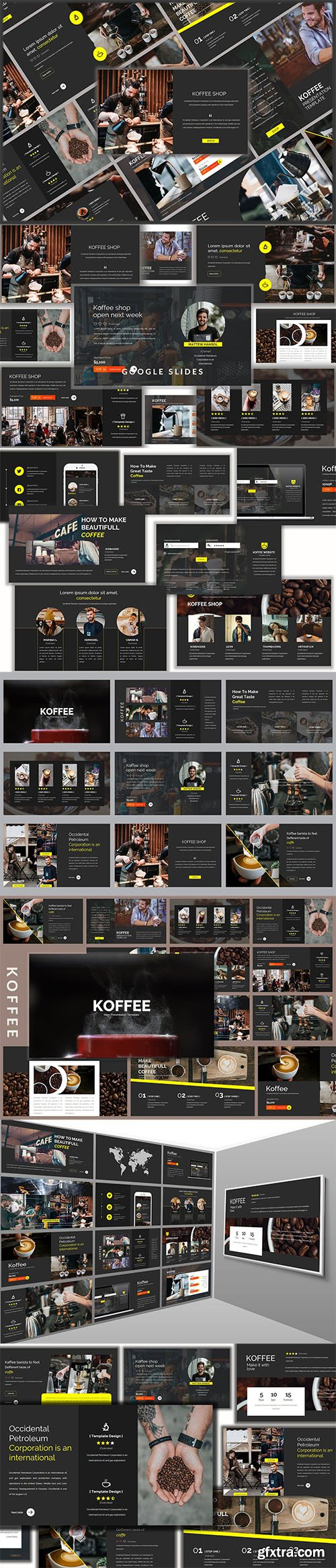 Koffee Corporate - Powerpoint, Keynote and Google Slides Templates