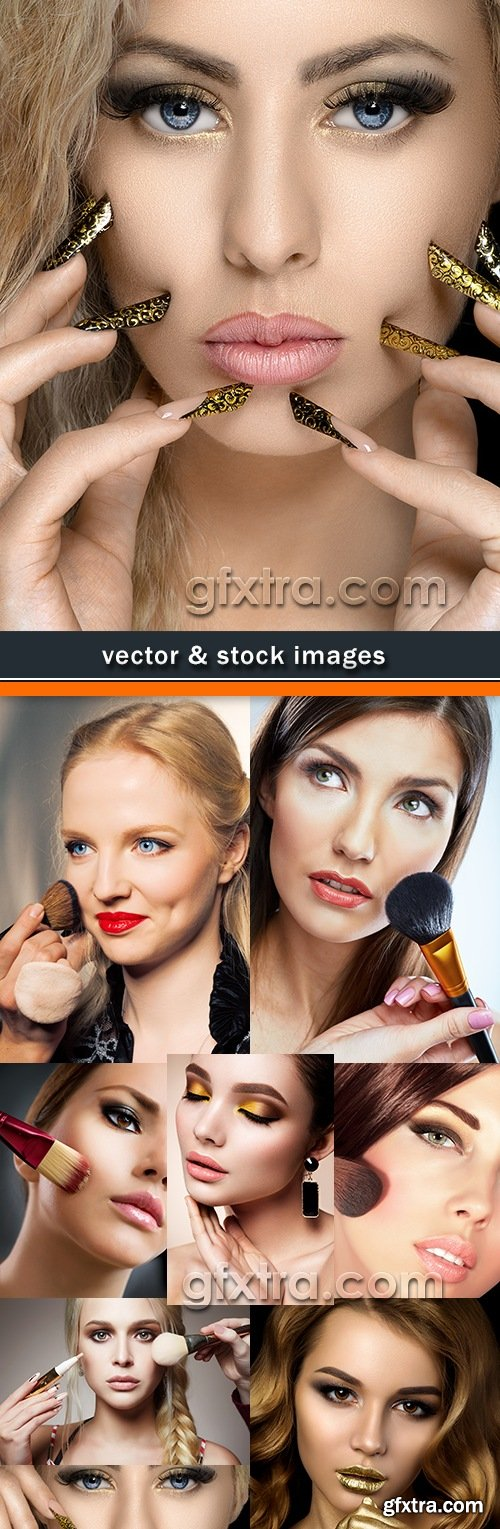 Cosmetics modern face care and hair daily make-up
