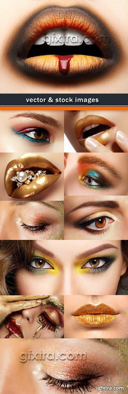 Eyes and lips professionalnyy beautiful make-up