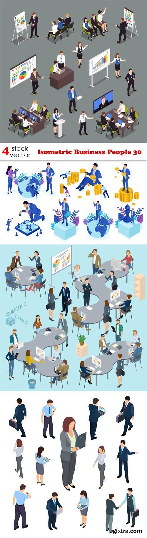 Vectors - Isometric Business People 30