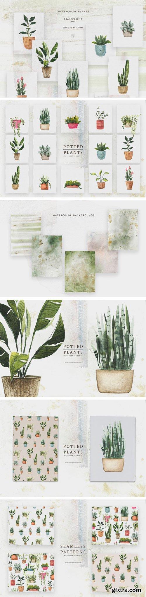 CM - Watercolor Potted Plants 3137953