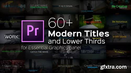 Videohive - Modern Titles and Lower Thirds for Premiere Pro - 22257923
