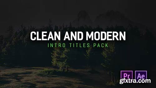 Videohive - Modern Intro Titles Pack for Premiere Pro - 22293382