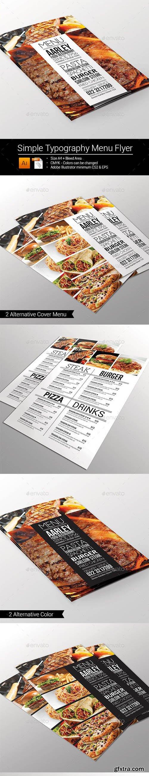 Simple Typography Menu Flyer 10013533