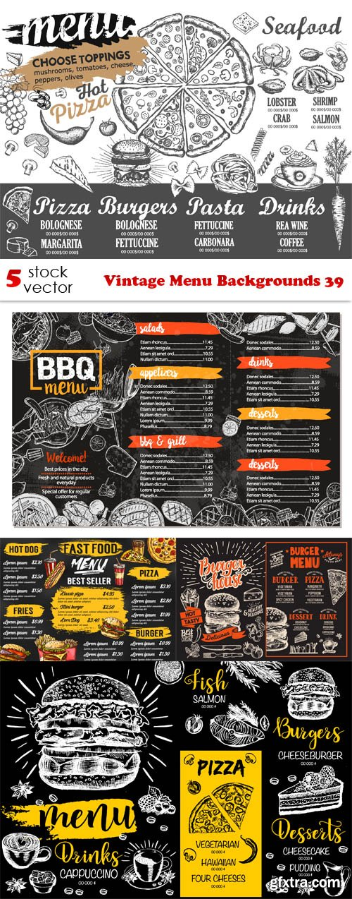 Vectors - Vintage Menu Backgrounds 39