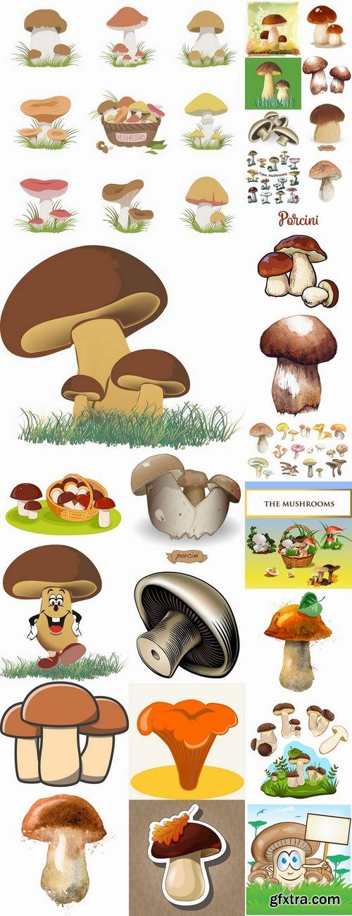 Mushrooms icon vector image 25 EPS