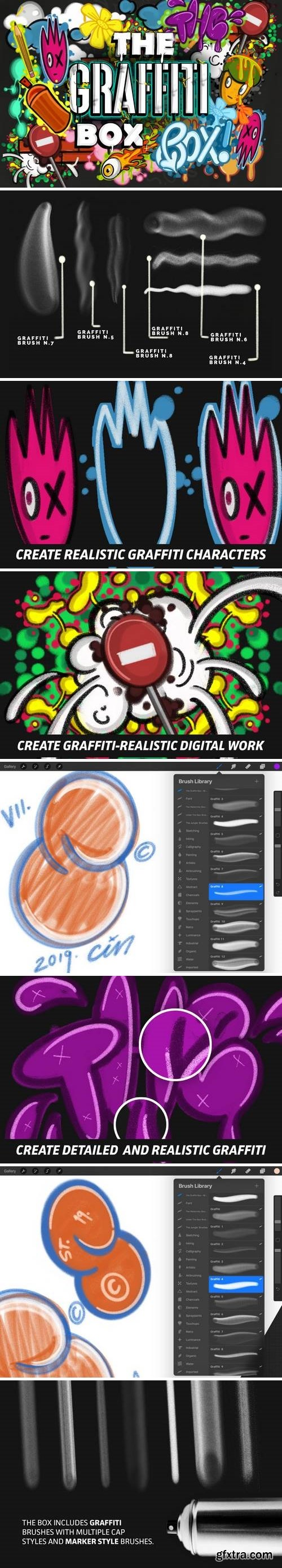 The Graffiti Box: Procreate Brushes